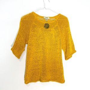 Bellami- Honey Mustard Yellow loose knit 🌻